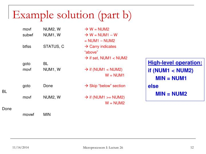 Example solution (part b)