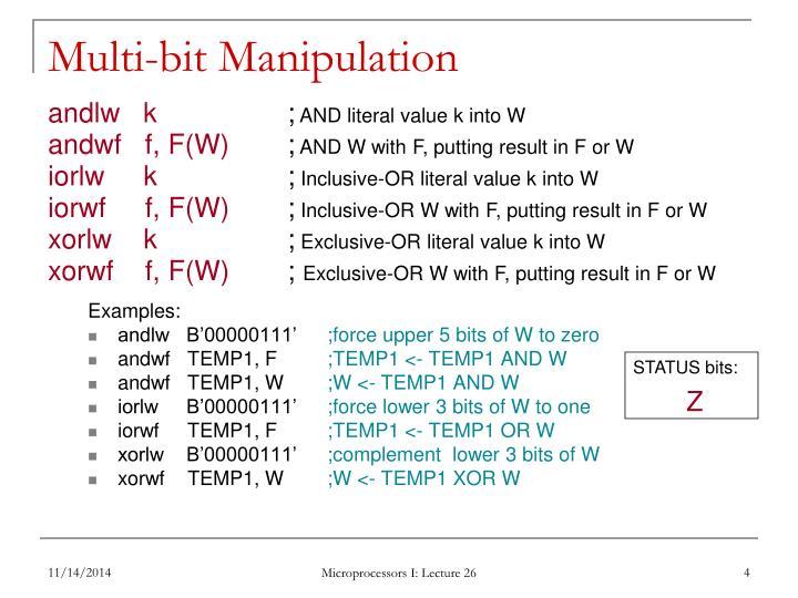 Multi-bit Manipulation