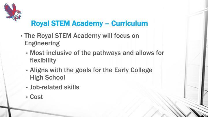 Royal STEM Academy – Curriculum