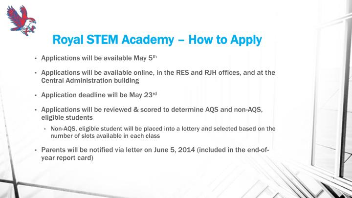 Royal STEM Academy – How to Apply