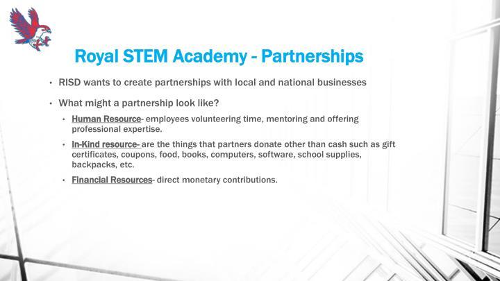 Royal STEM Academy - Partnerships
