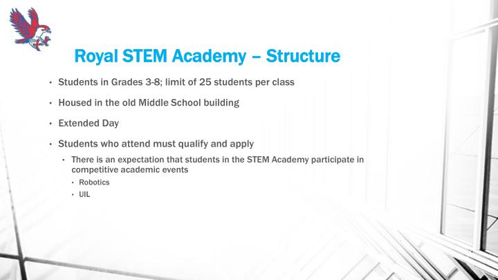 Royal STEM Academy – Structure