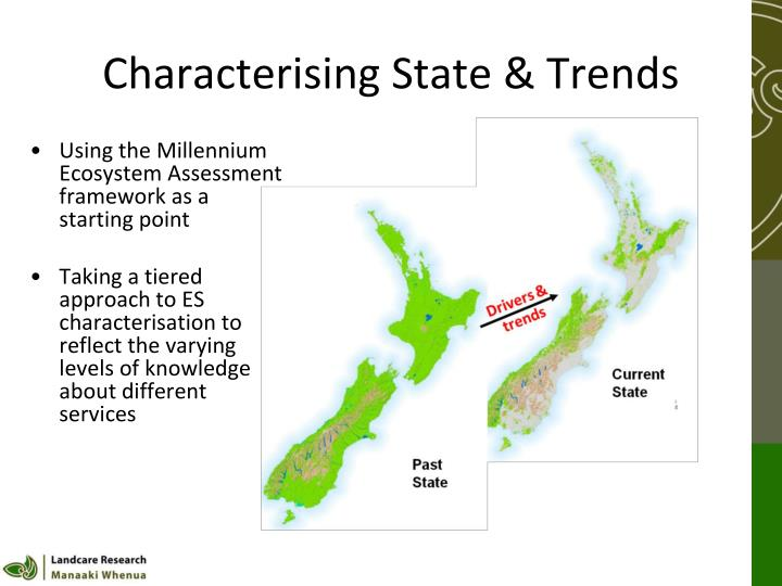 Characterising State & Trends