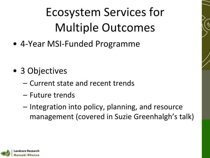 Ecosystem Services for