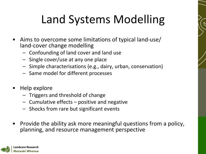 Land Systems Modelling