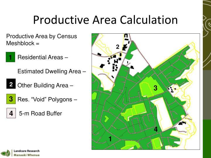 Productive Area Calculation