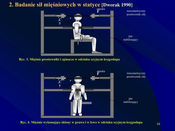 2. Badanie sił mięśniowych w statyce
