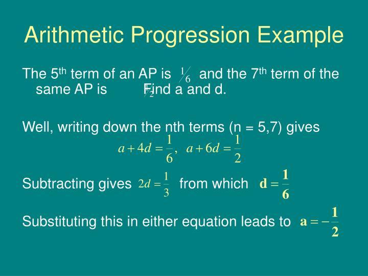 Arithmetic Progression Example