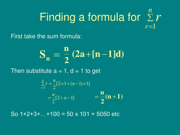 Finding a formula for