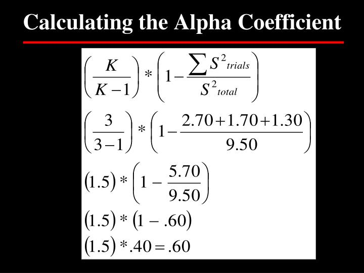 Calculating the Alpha Coefficient
