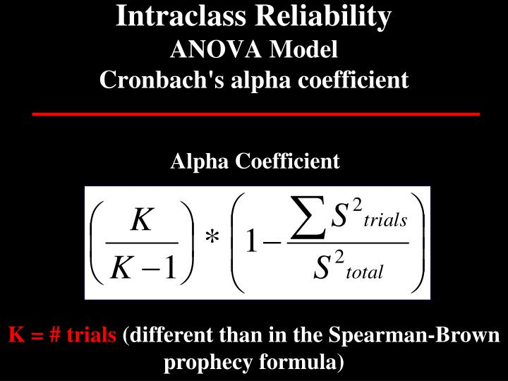 Intraclass Reliability