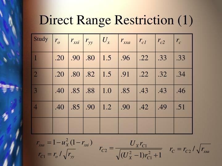 Direct Range Restriction (1)