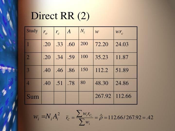 Direct RR (2)