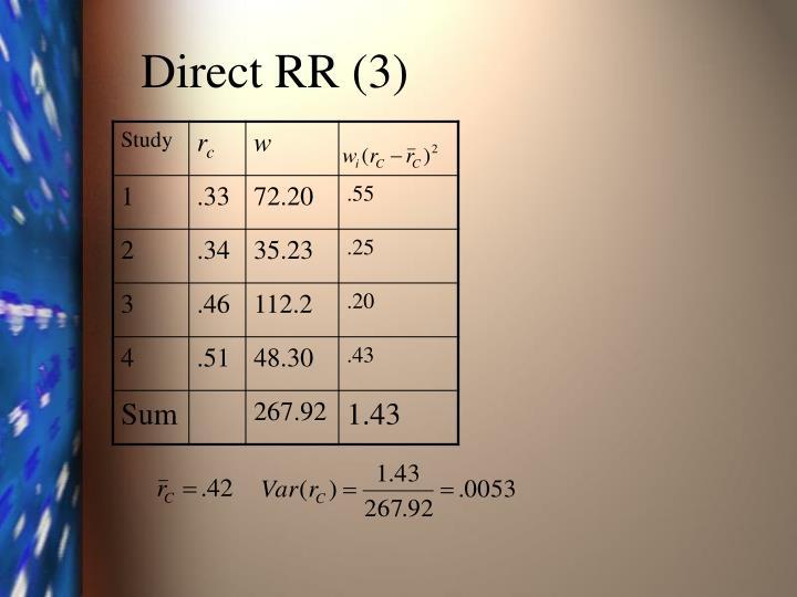 Direct RR (3)