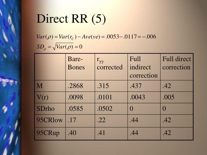 Direct RR (5)