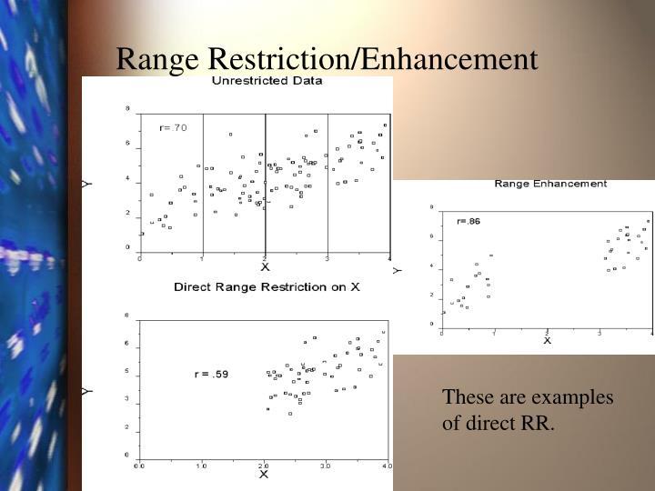 Range Restriction/Enhancement