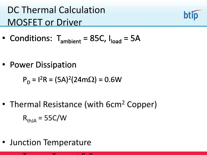 DC Thermal Calculation