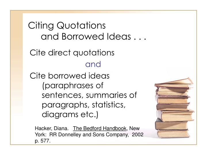 Citing Quotations