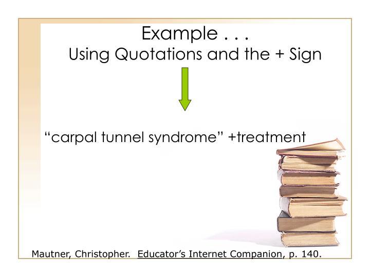Example . . .