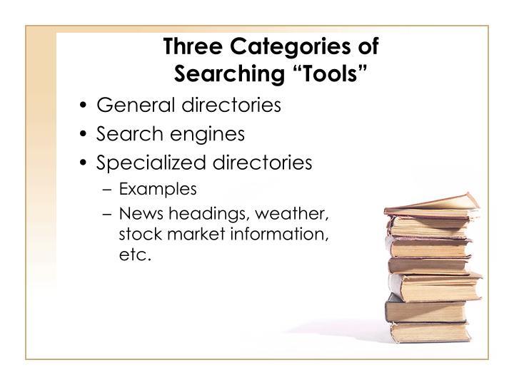 Three Categories of
