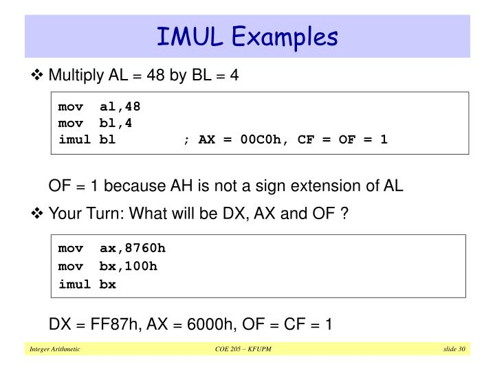 IMUL Examples