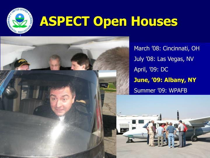 ASPECT Open Houses