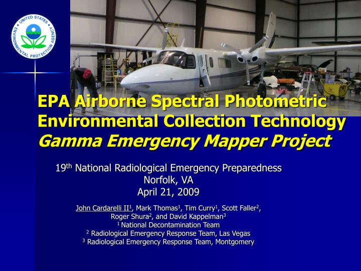 EPA Airborne Spectral Photometric Environmental Collection Technology