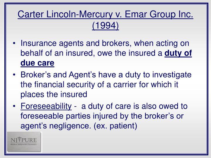 Carter Lincoln-Mercury v. Emar Group Inc. (1994)