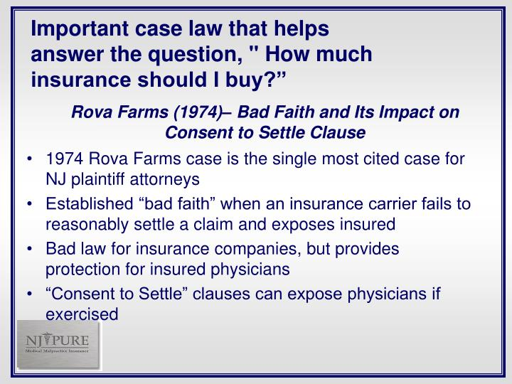 Important case law that helps