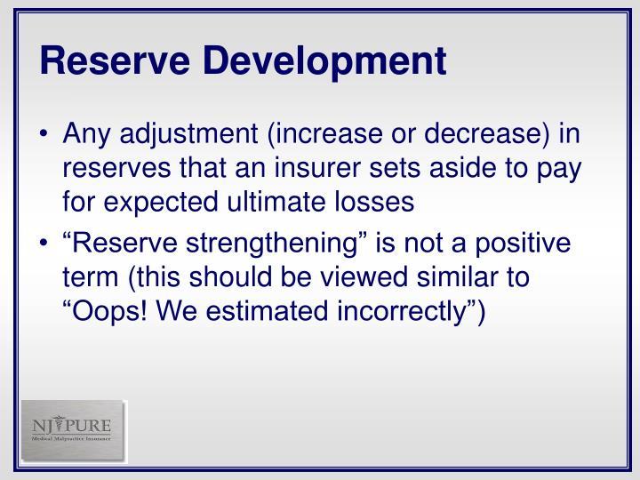 Reserve Development