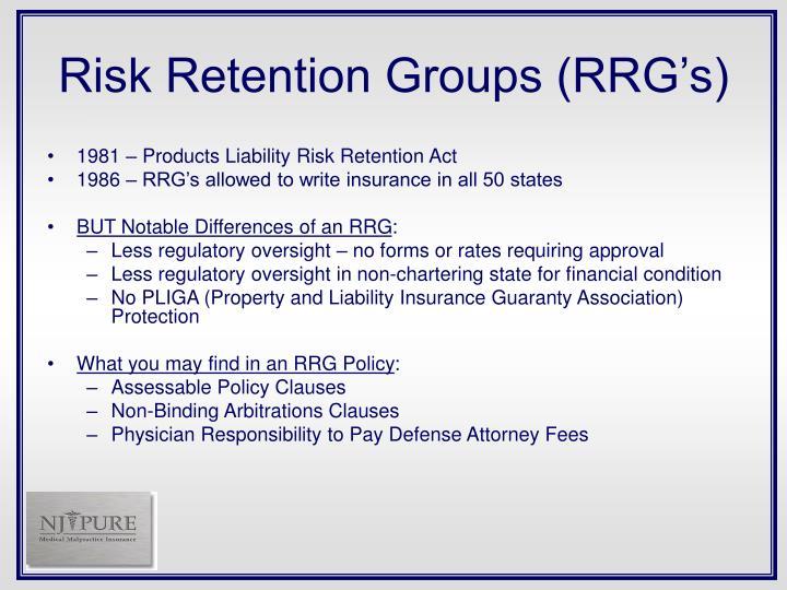 Risk Retention Groups (RRG's)