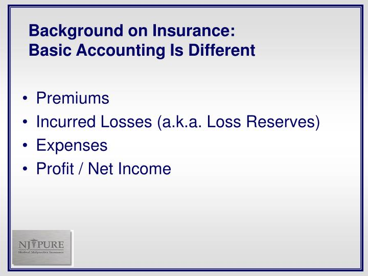 Background on Insurance: