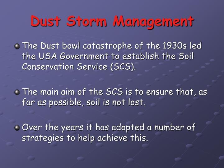 Dust Storm Management