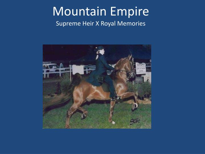 Mountain Empire