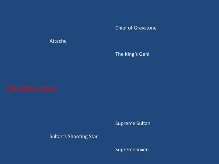 Chief of Greystone