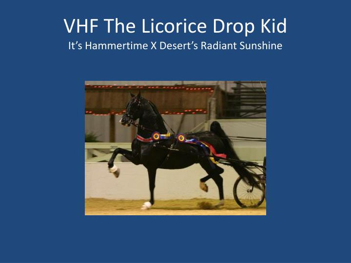 VHF The Licorice Drop Kid