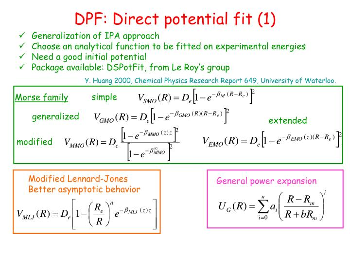 DPF: Direct potential fit (1)
