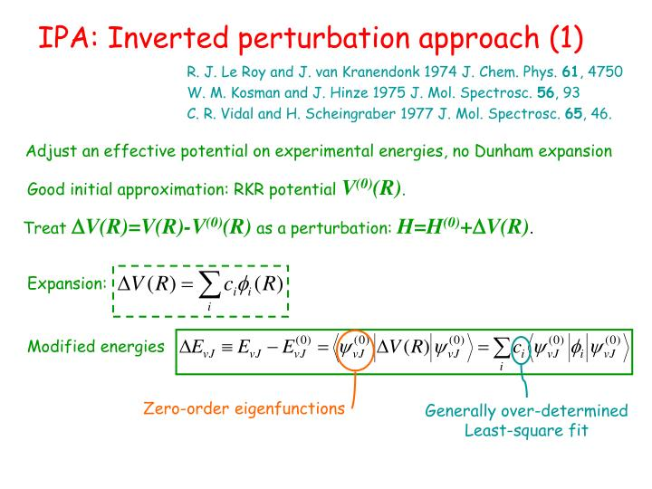 IPA: Inverted perturbation approach (1)