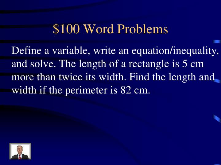 $100 Word Problems