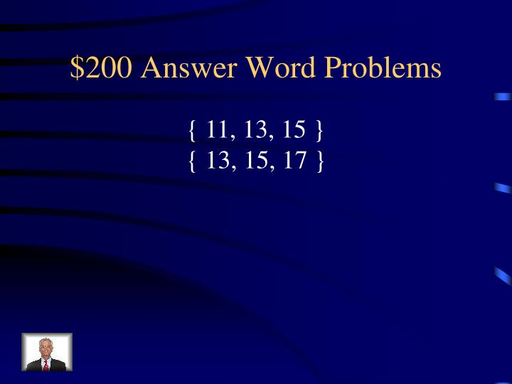$200 Answer Word Problems