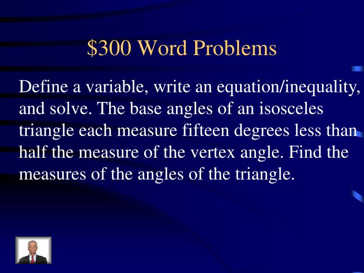 $300 Word Problems