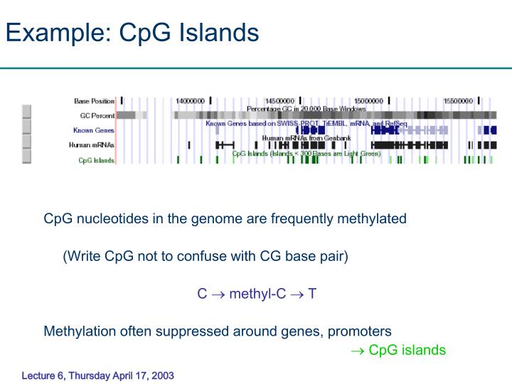 Example: CpG Islands