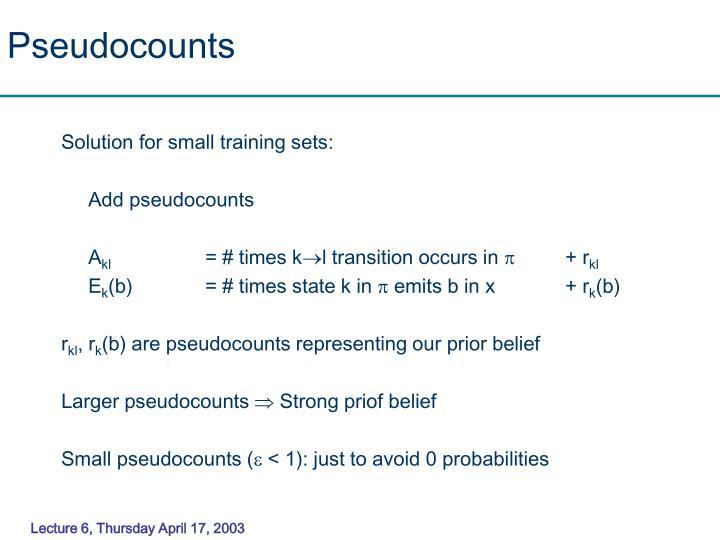 Pseudocounts