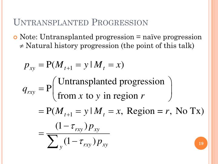 Untransplanted Progression