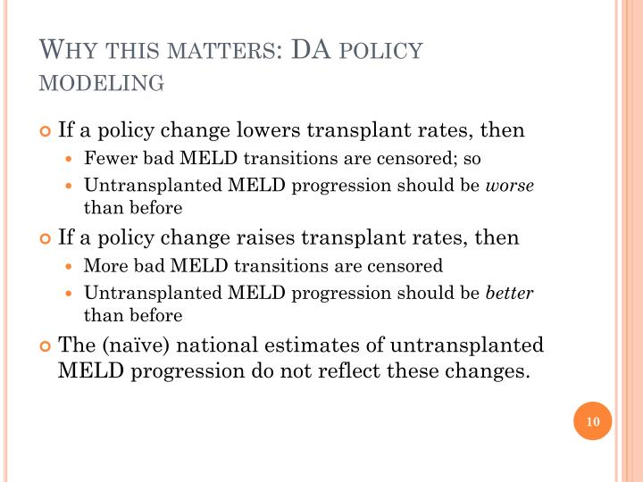 Why this matters: DA policy modeling