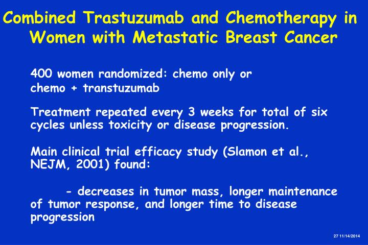 Combined Trastuzumab and Chemotherapy in