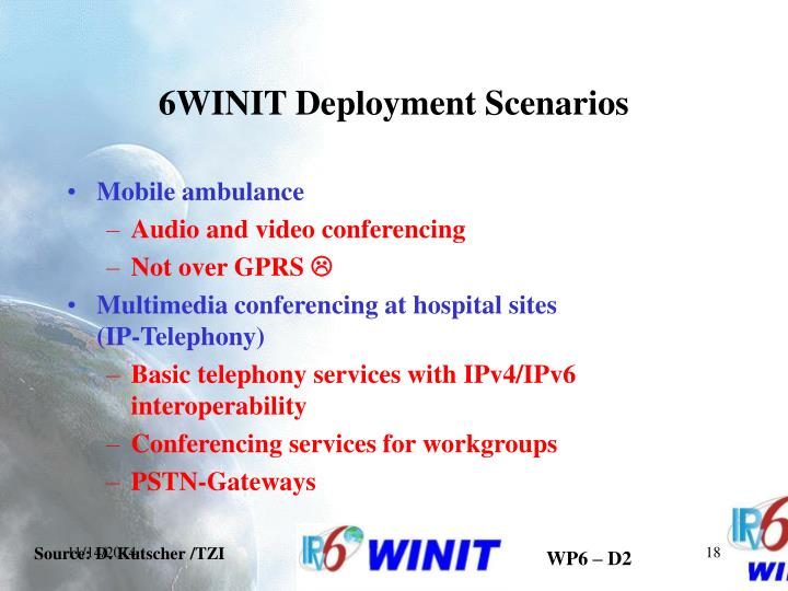 6WINIT Deployment Scenarios