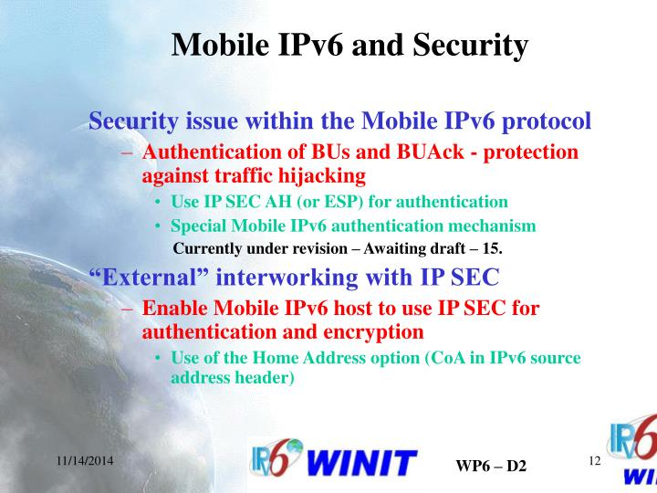 Mobile IPv6 and Security