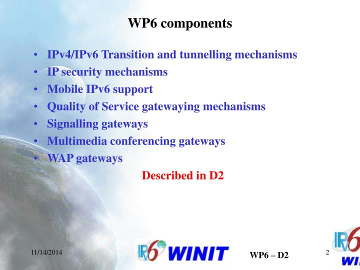 WP6 components