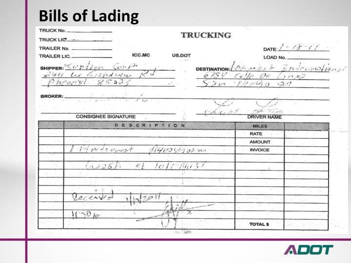Bills of Lading